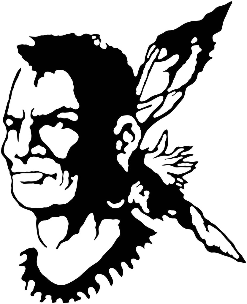 American Indian Man - DXF files Cut Ready CNC Designs -DXFforCNC.com
