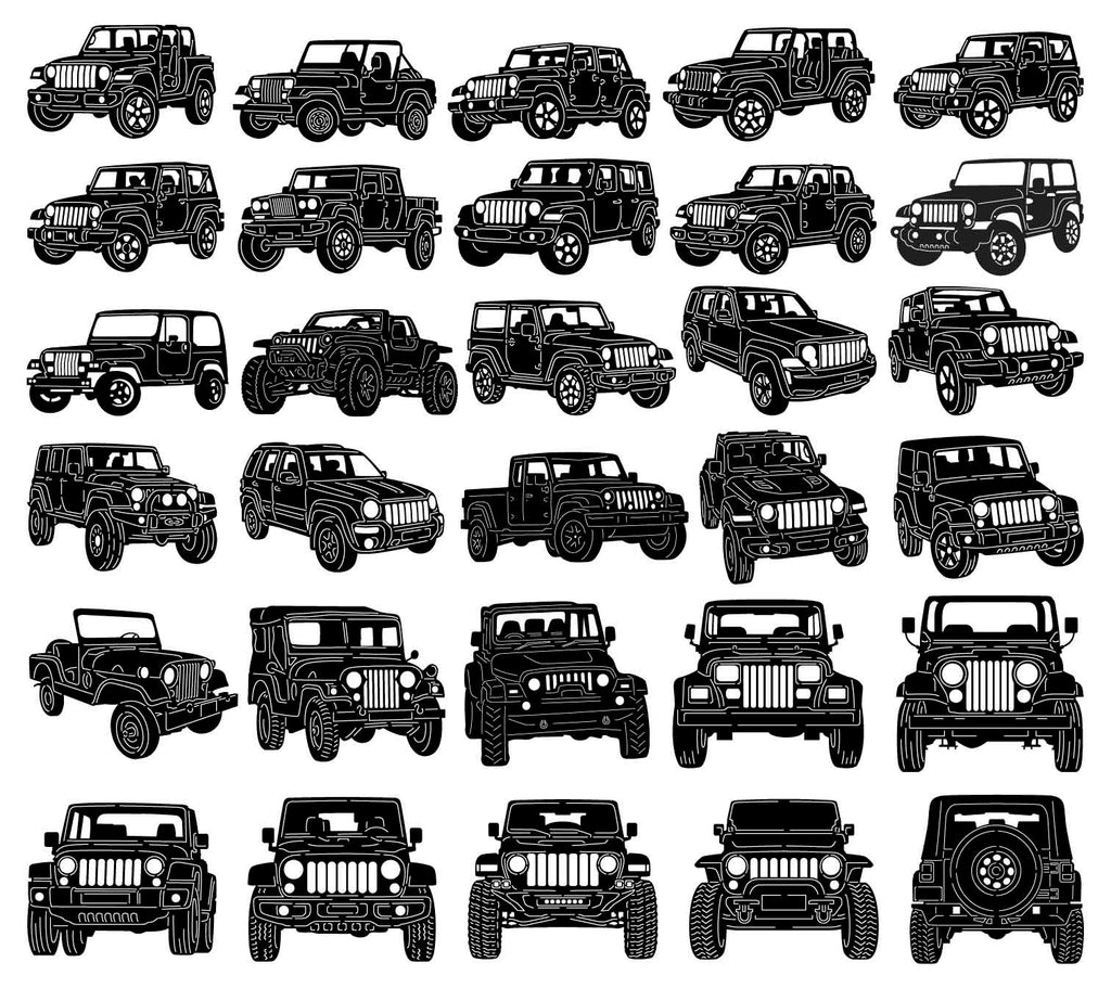 Jeep 4x4 Cars-dxf files cut ready for cnc machines-dxfforcnc.com