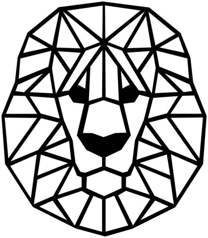 Lion Face Geometric-DXF files Cut Ready for CNC-DXFforCNC.com