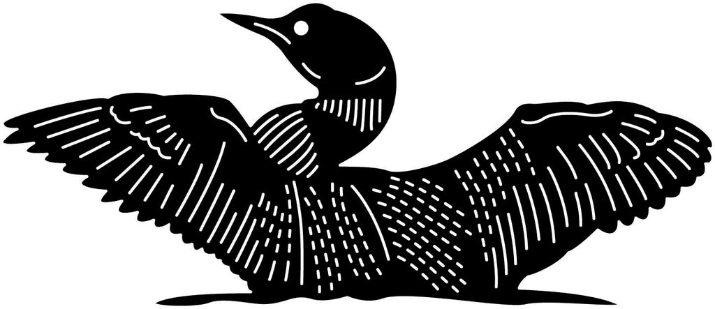 Loons in Lake-DXF File Cut Ready for cnc machines-DXFforCNC.com