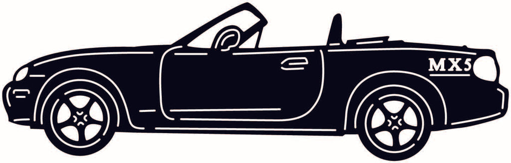 MX 5 Old Muscle Car-DXF files cut ready for cnc machines-DXFforCNC.com