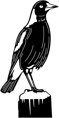Magpie Bird-DXF files cut ready for cnc machines-dxfforcnc.com