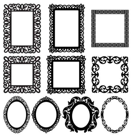 Mirror Frames-dxf files cut ready for cnc machines-dxfforcnc.com