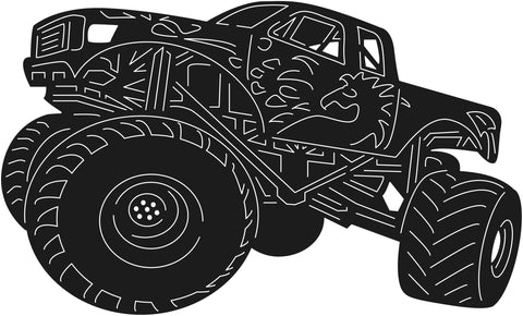 Monster Trucks Racing-DXF files Cut Ready for CNC-DXFforCNC.com