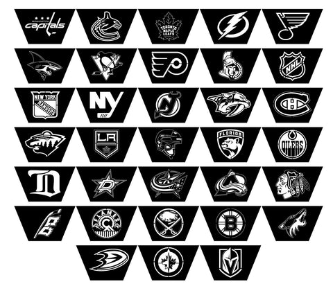 Fire Pits Hexagon American National Hockey League NHL Teams Logo-dxf files