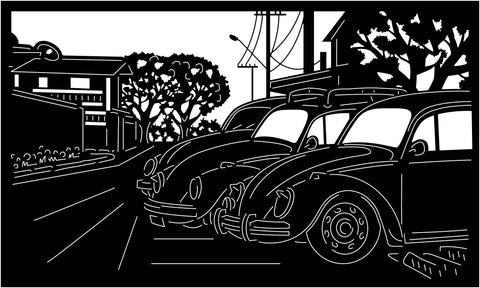 Old Classic Cars View-DXF files Cut Ready for CNC-DXFforCNC.com