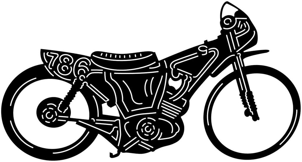Old Motorcycle-DXF files cut ready for cnc machines-DXFforCNC.com