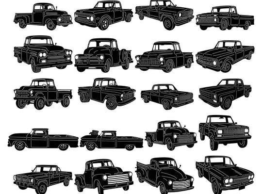 Old Small Trucks-dxf files cut ready for cnc machines-dxfforcnc.com