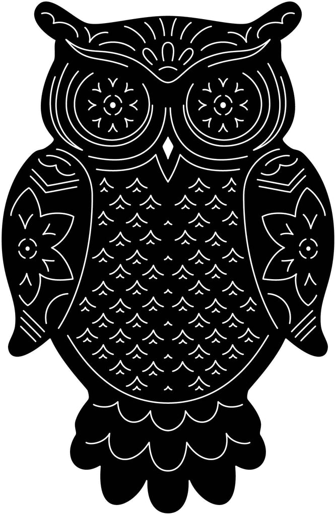 Owl Ornamental-DXF filec ut ready for cnc machines-DXFforCNC.com