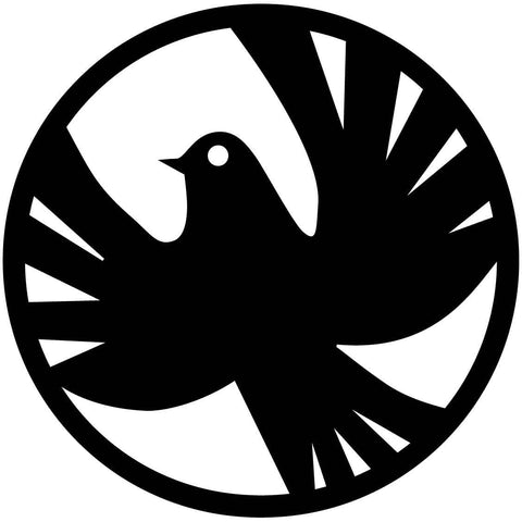 Peace Dove Circle Free DXF file-Cut Ready for cnc machines-DXFforCNC.com