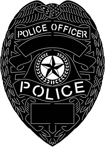 Police Officer Badge Blank-DXF File cut ready for CNC machines