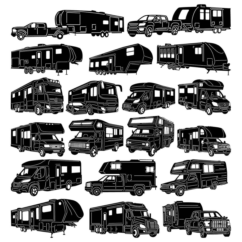 Recreational Vehicle Motorhomes and Travel Trailers-DXF files Cut Ready for CNC-DXFforCNC.com