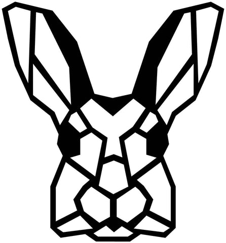 Rabbit Face Geometric-DXF files Cut Ready for CNC-DXFforCNC.com