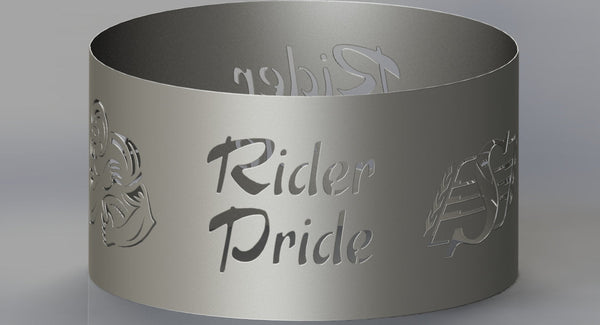 Fire Pit Rider Pride-DXFforCNC.com-DXF Files cut ready cnc machines
