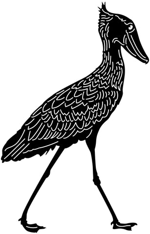 Shoebill Whalehead Stork Bird-DXF files cut ready for cnc machines-dxfforcnc.com