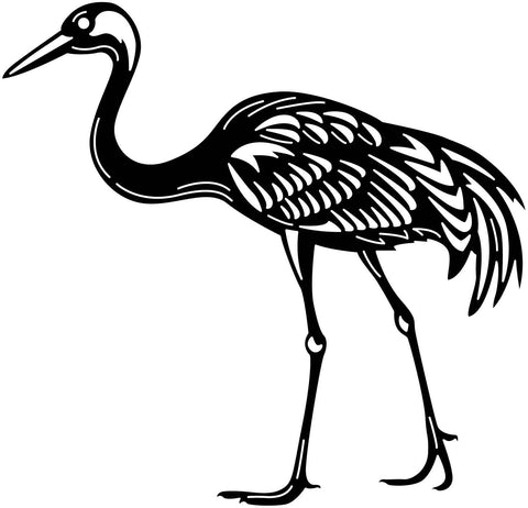 Standing Crane Bird-DXF files cut ready for cnc machines-dxfforcnc.com