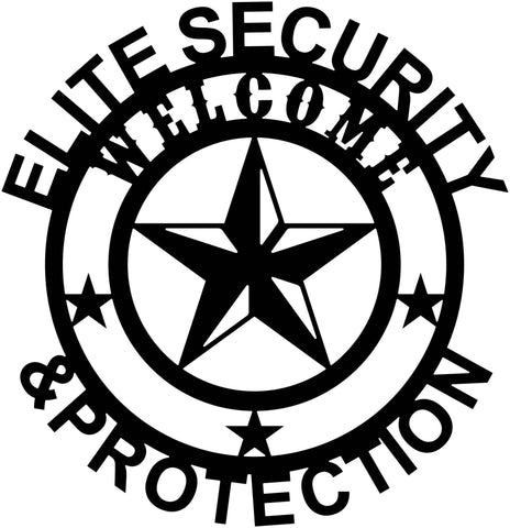 Star Welcome Elite Security & Protection-DXF files cut ready for cnc machines-dxfforcnc.com