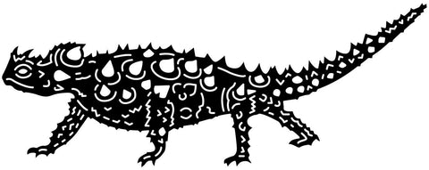 Thorny Devil Lizard-DXF files cut ready for cnc machines-dxfforcnc.com