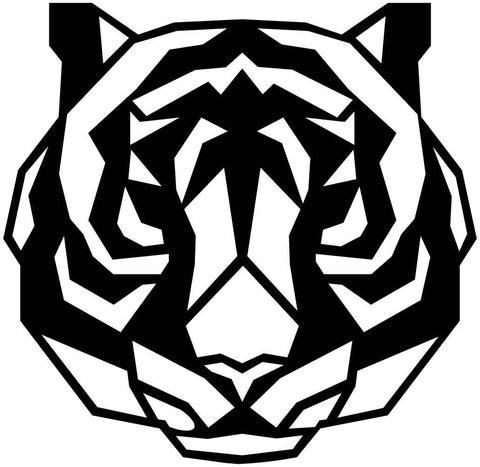 Tiger Face Geometric-DXF files Cut Ready for CNC-DXFforCNC.com
