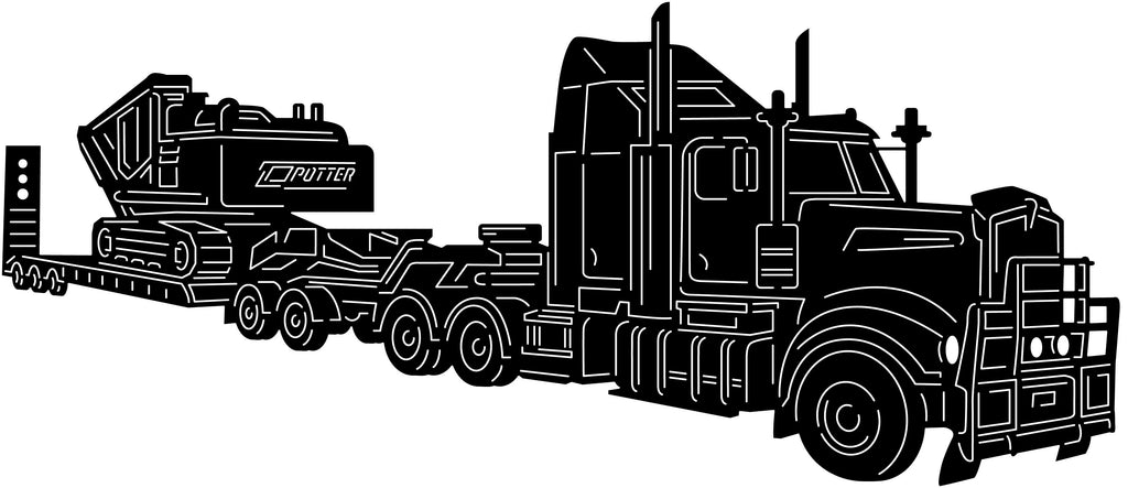 Truck and Excavator-DXF files cut ready for cnc machines-DXFforCNC.com