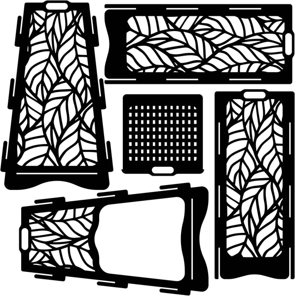 Fire Pit Vertical Collapsible Portable Ornaments Leaves-dxf files cut ready