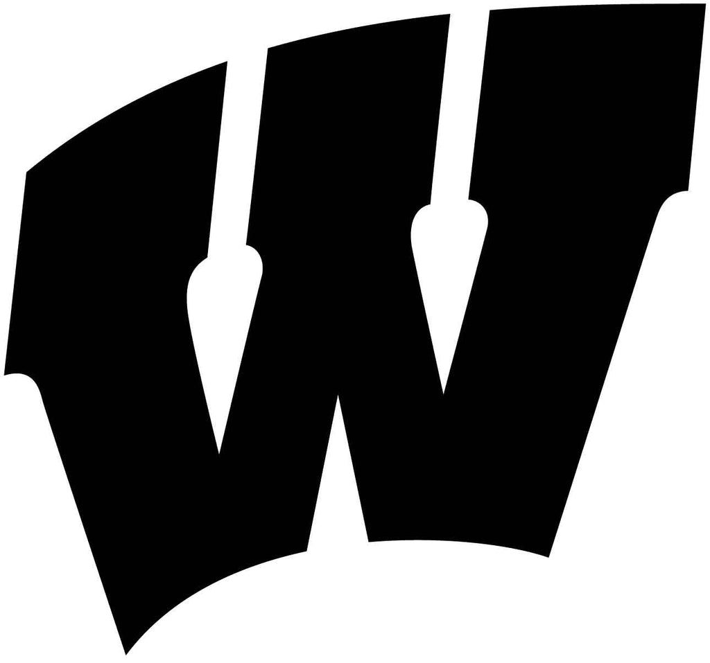 The Wisconsin Badger W.   DXFforCNC.com