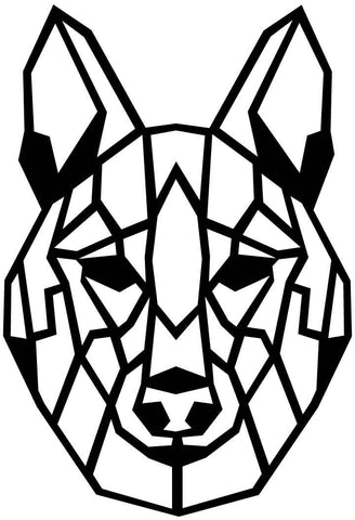 Wolf Face Geometric-DXF files Cut Ready for CNC-DXFforCNC.com