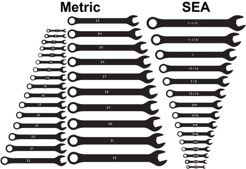 Combination Wrench Tools Open-end, Box-end-dxf files cut ready for cnc-dxfforcnc.com