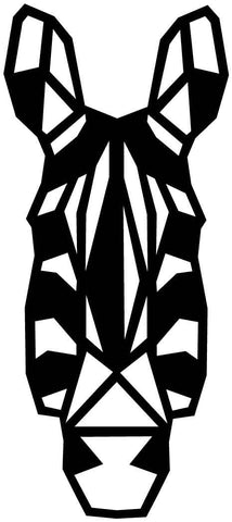 Zebra Face Geometric-DXF files Cut Ready for CNC-DXFforCNC.com
