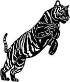 Bengal Tiger Jumping-DXFforCNC.com-DXF Files cut ready cnc machines