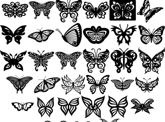 Butterfly Ornaments Decor-DXFforCNC.com-DXF Files cut ready cnc machines