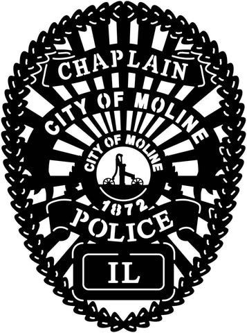 City of Moline Police Badge-DXFforCNC.com-DXF Files cut ready cnc machines