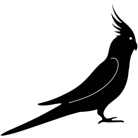 Free Cockatiel Bird-DXFforCNC.com-DXF Files cut ready cnc machines