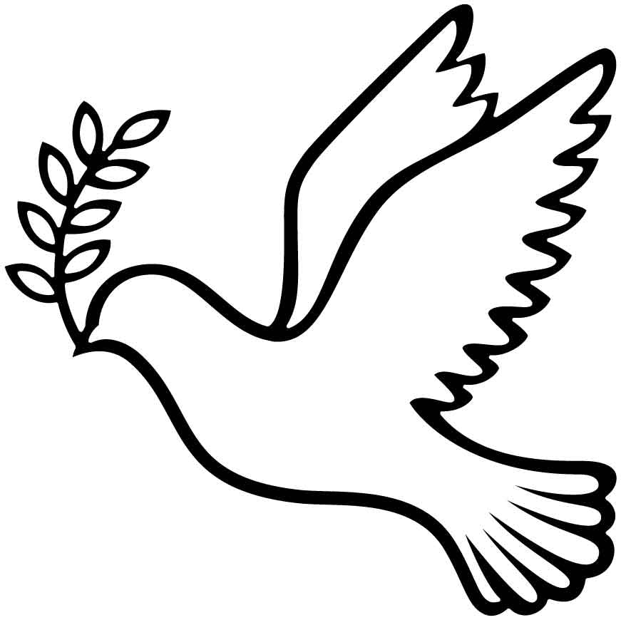 Dove with olive branch-DXF files cut ready for cnc machines-dxfforcnc.com