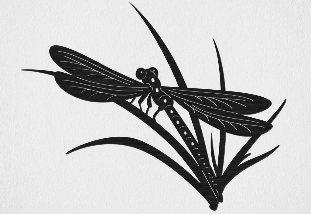Dragonfly on Leaf Scene-DXFforCNC.com-DXF Files cut ready cnc machines