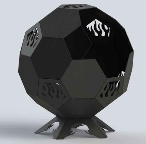 Fire Pit Ball Plain-DXFforCNC.com-DXF Files cut ready cnc machines
