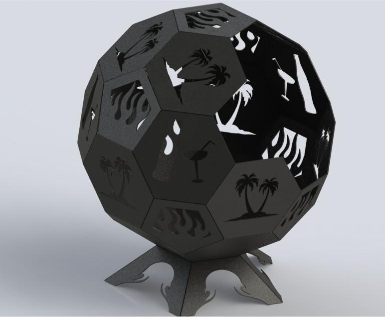 Fire Pit Ball Trees and Juice Bottles-DXFforCNC.com-DXF Files cut ready cnc machines