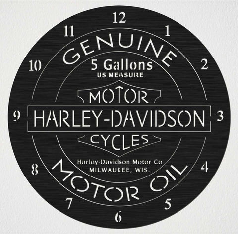 Harley Davidson Motor Cycles Wall Clock Base-DXFforCNC.com-DXF Files cut ready cnc machines