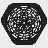 Hexagon Flower Table with Traditional Ornamental Style Scroll Legs-DXFforCNC.com-DXF Files cut ready cnc machines