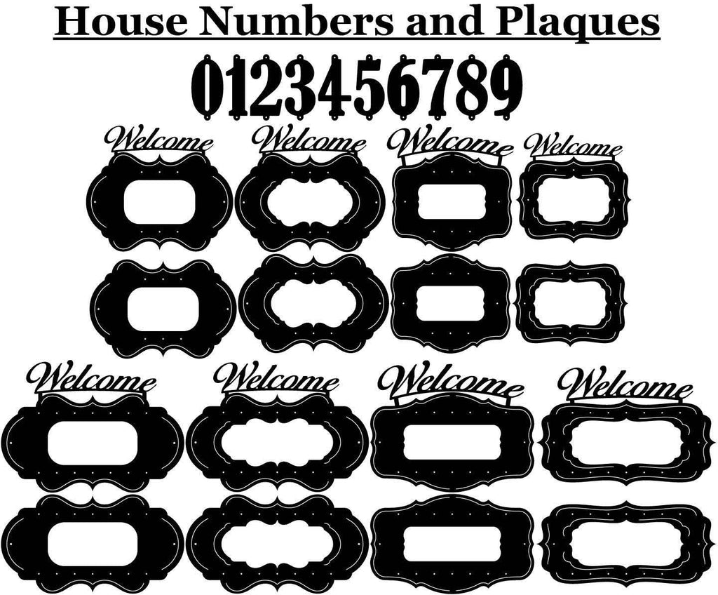 House Numbers and Ornaments Plaques-DXFforCNC.com-DXF Files cut ready cnc machines