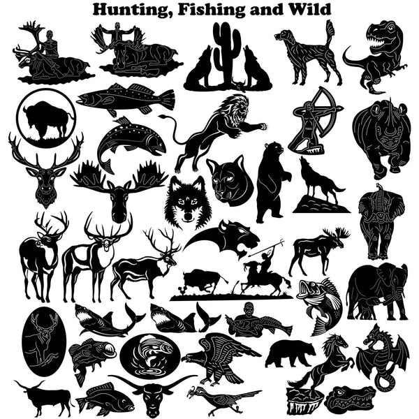 Hunting Fishing And Wild Dxf Files Cut Ready Cnc Designs