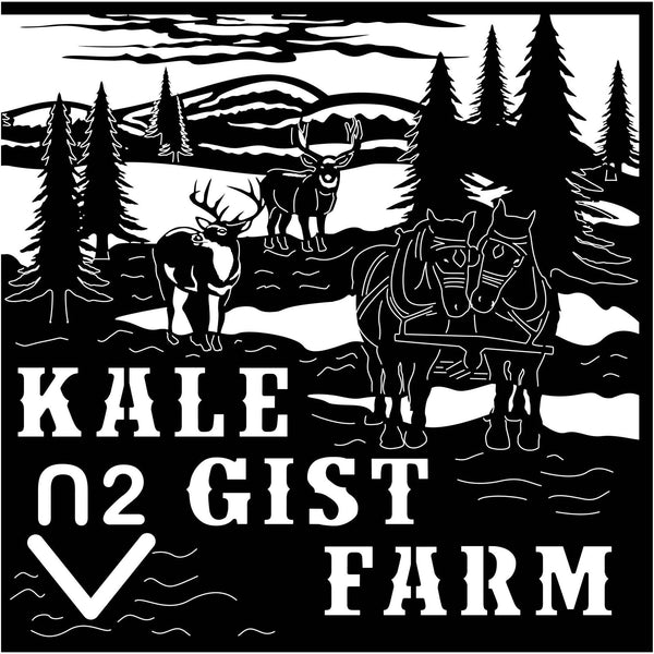 Kale Gist Farm Scene-DXFforCNC.com-DXF Files cut ready cnc machines