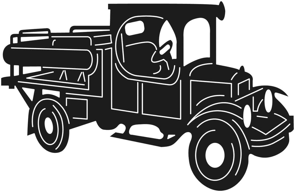 Old Classic Small Truck-DXF files cut ready for cnc machines-DXFforCNC.com