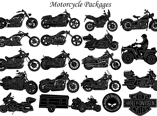 Motorcycle and Chopper Bike-DXFforCNC.com-DXF Files cut ready cnc machines