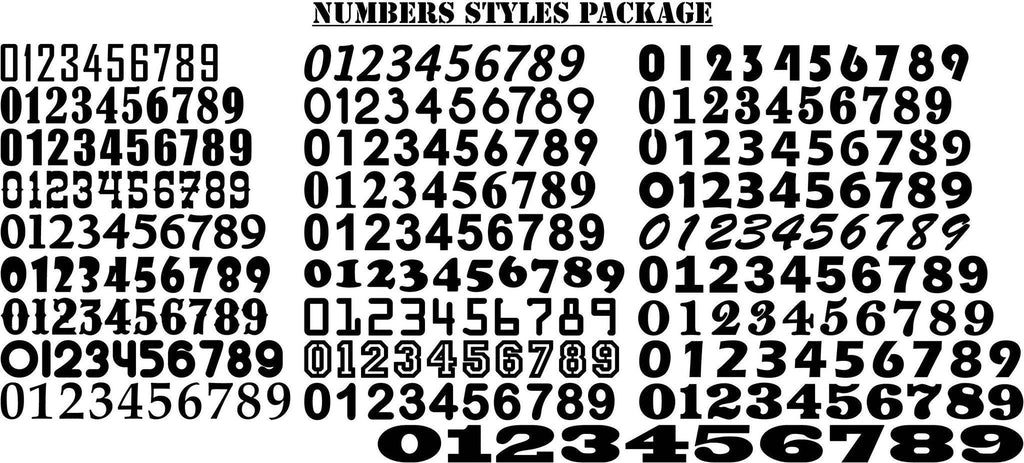 Numbers Styles-DXFforCNC.com-DXF Files cut ready cnc machines