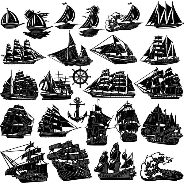 Sailing Boats and Ships-DXFforCNC.com-DXF Files cut ready cnc machines