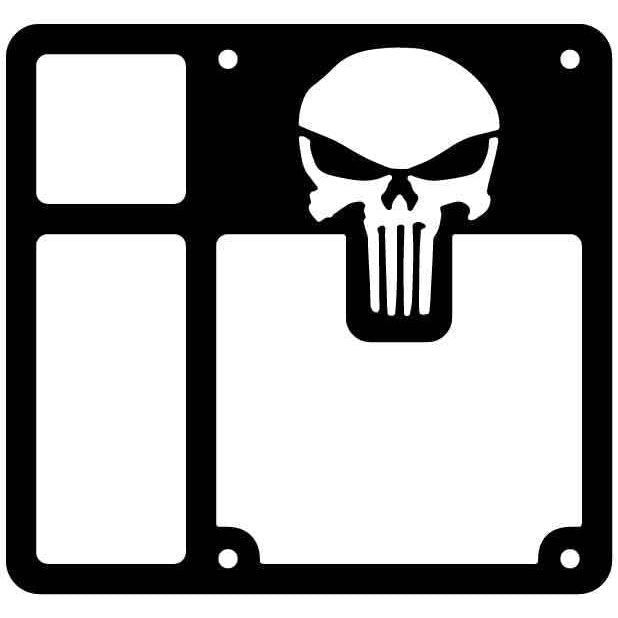 Tail Light Cover with Punisher Logo for Jeep Wrangler-DXFforCNC.com-DXF Files cut ready cnc machines