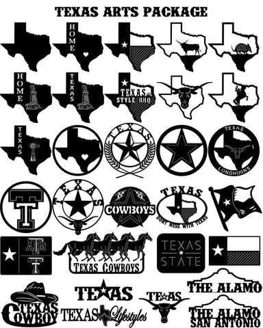 Country & Western - DXF files Cut Ready CNC Designs