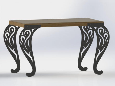 Traditional Style Ornamental Scroll Legs of Table-DXFforCNC.com-DXF Files cut ready cnc machines