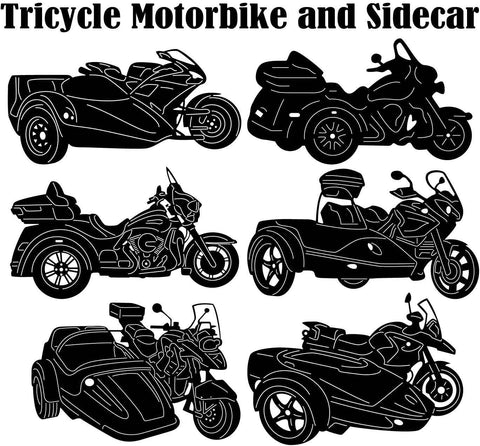Tricycle Motorbike and Sidecar-DXFforCNC.com-DXF Files cut ready cnc machines
